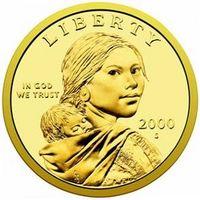 Hvilket år gjorde de gjør det Sacagawea Dollar?