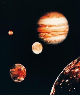 Den relative avstandene i solsystemet