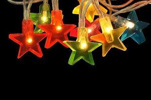 Hvordan sette lys på et juletre