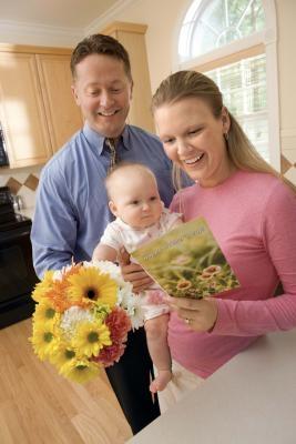DIY Lykkeønskning baby kort