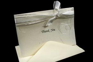 Hvordan Word takkekort for Arbeids Gaver