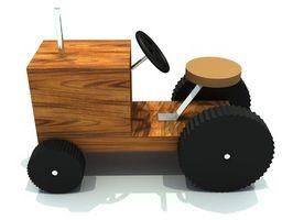 Hvordan lage en tre leketøy Bus