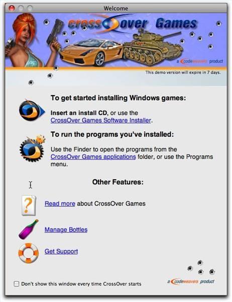 Slik installerer Crossover Games for Mac