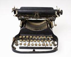 Deler av en skrivemaskin og deres betydning