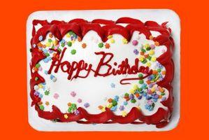 Hvordan sende en bursdagskake til noen