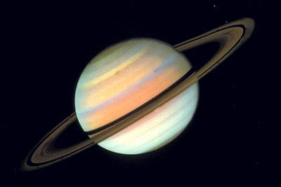 Slik viser Saturn Fra den sørlige halvkule