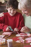 Valentine Craft aktivitet for et barn