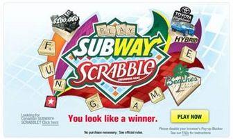 Slik spiller Subway Scrabble