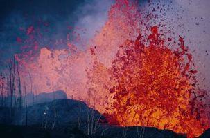 Hva bestemmer intensitet som en vulkan Erupts?