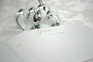 Gjestebok alternativer for et bryllup dag