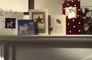 Julekort for barn å gjøre hjemme
