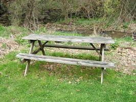 Instruksjoner for en barne Picnic Table