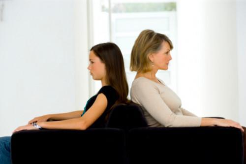 Problemer i en mor og Teen datter forhold