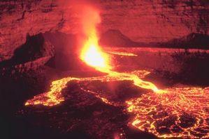 Hva skjer med Lava Etter utspring fra en vulkan?
