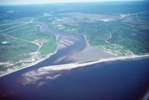 Hvilke materialer er Funnet i deltaer som er i en elv?