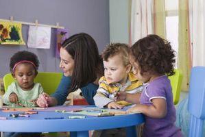 Tar en smårolling å Preschool for første gang