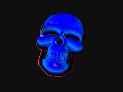 Hvordan Tegn en 3D Skeleton Face