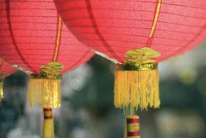 Ideer for et bryllup mottak på en kinesisk restaurant