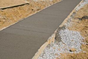 Hvordan finne Målinger for Concrete