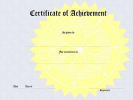 Hvordan til Word sertifikater av Achievement