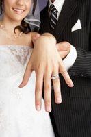 Hvordan er bryllup sett å bli slitt?