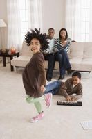 Lag spill for blandet alder Familiegrupper