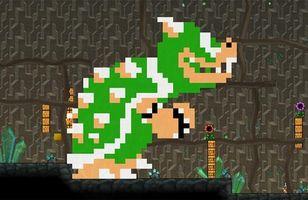Hvordan Beat Bowser i det siste nivået av Super Mario Brothers 1