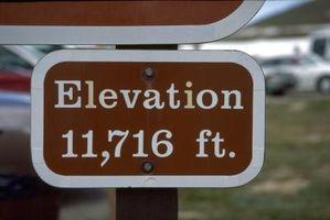 Hvordan beregne høyde med referanse til Sea Level