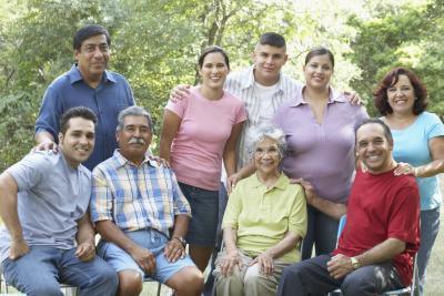 Hvordan Ordne en familie på ti for en Innendørs gruppeportrett