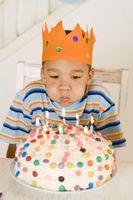 Enkle dekorere ideer for bursdagskaker