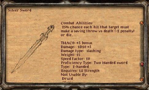 "Hvordan Forge Silver Sword in ""Baldur Gate 2"""