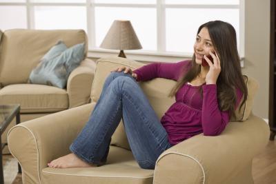 Hvordan Cheer en jente opp på telefonen