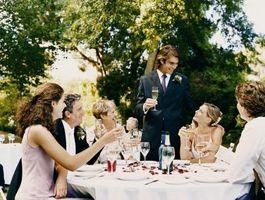 Hvordan Hev Toast for bryllup