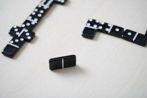 Instruksjoner for Double Tolv Dominoes