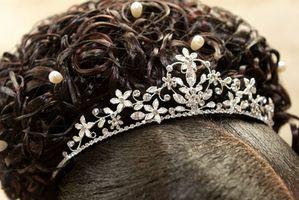 Hvordan Wear en svart brudekjole