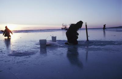 Hvordan is fisk for ørret i Minnesota