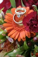 Fuchsia & Orange bryllup ideer