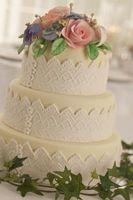 DIY Jeweled Wedding Cake Stand